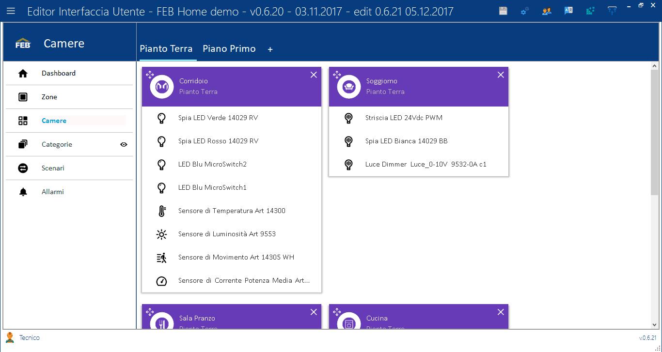 Camere - Editor Interfaccia Utente