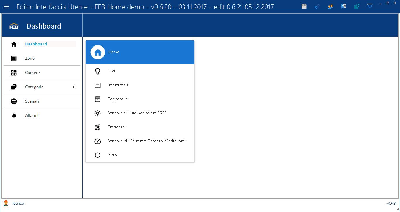 Dashboard - Editor Interfaccia Utente