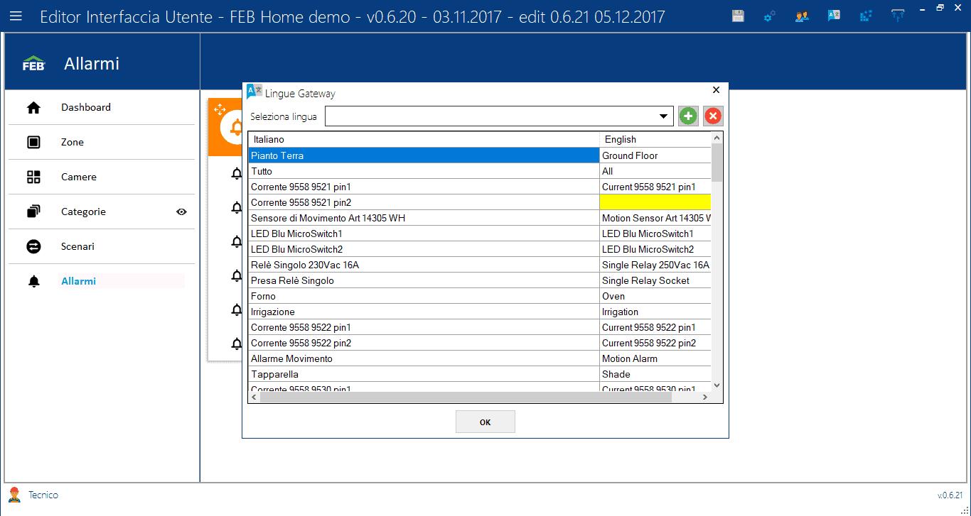 Lingue Gateway - Editor Interfaccia Utente