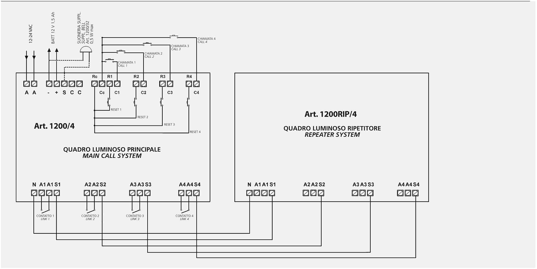 Schema Cablaggio Usb : Schema collegamento quadro a led e un solo quadro ripetitore