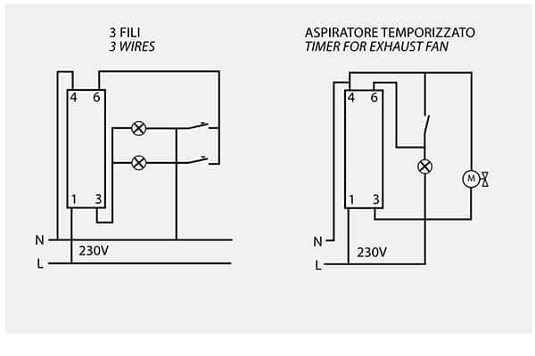 Schema Collegamento Orologio Temporizzatore : Temporizzatore luci scale feb elettrica