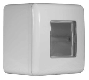 Scatola multi-serie da esterno con coperchio IP55 2 moduli grigia