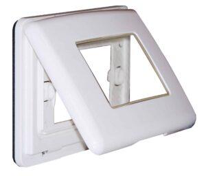 Coperchio autoportante multi-serie IP55 3 moduli bianco
