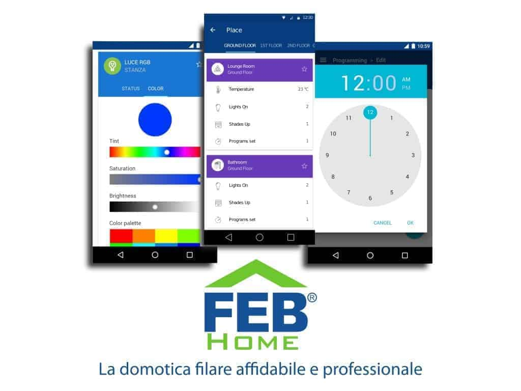 App domotica filare FEB Home