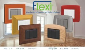 Wiring devices and cover plates Flexì series