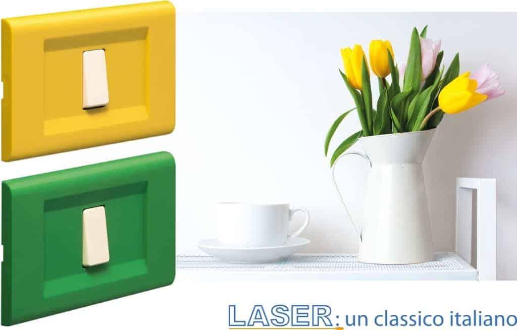 Frutti e placche serie Laser