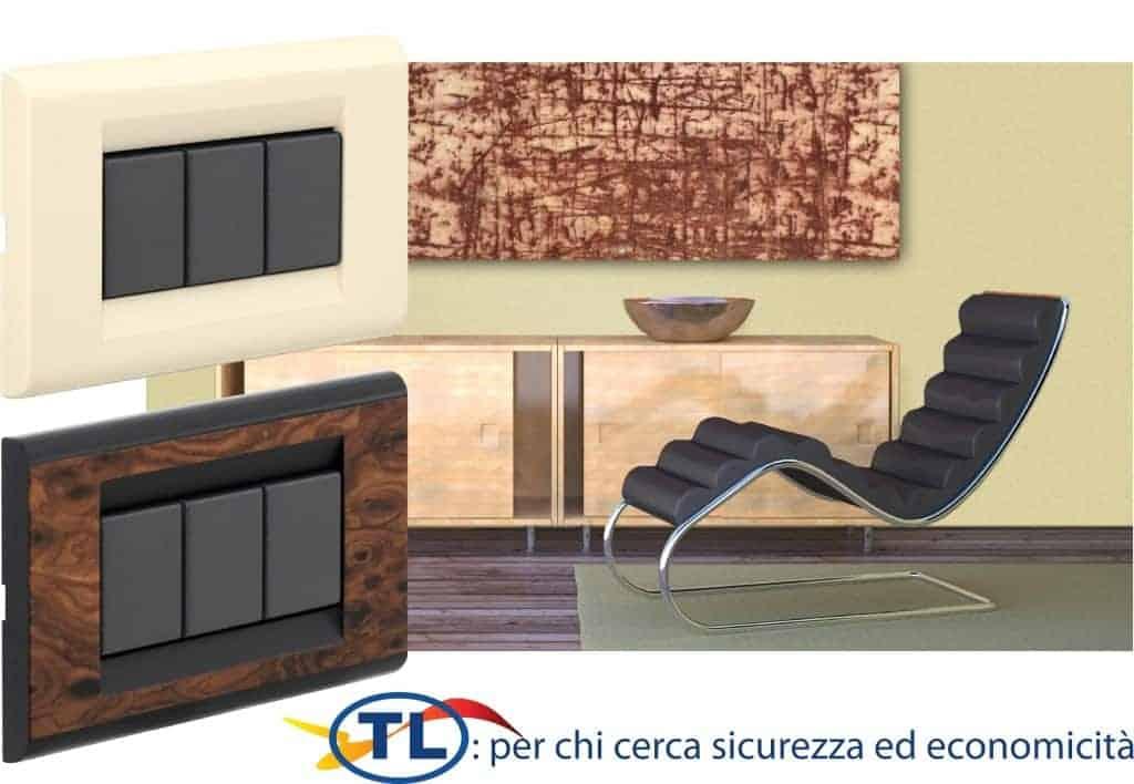 Ambientazione placche e interruttori serie TL